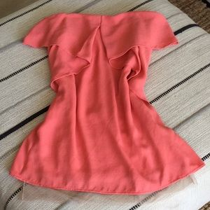 BCBGMaxAzria Dresses - BCBG Coral Pink Cocktail Dress